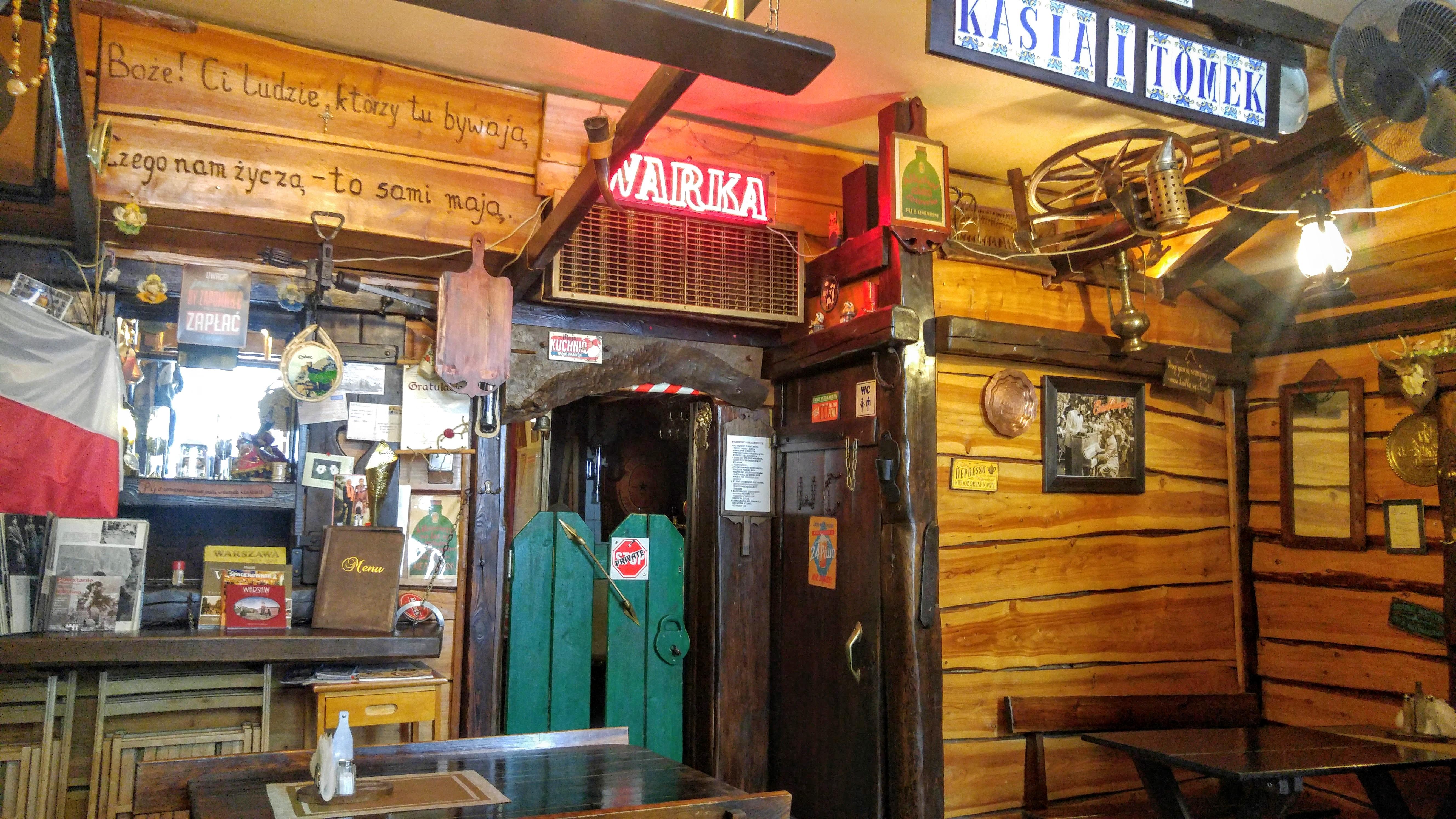 Ресторанчик Zascianek, как и большинство «семейных» заведений, карт не принимает