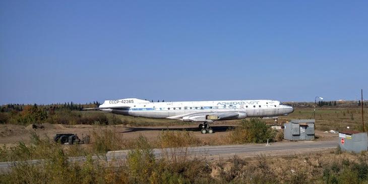 Ту-104 под Томском, сентябрь 2016 года
