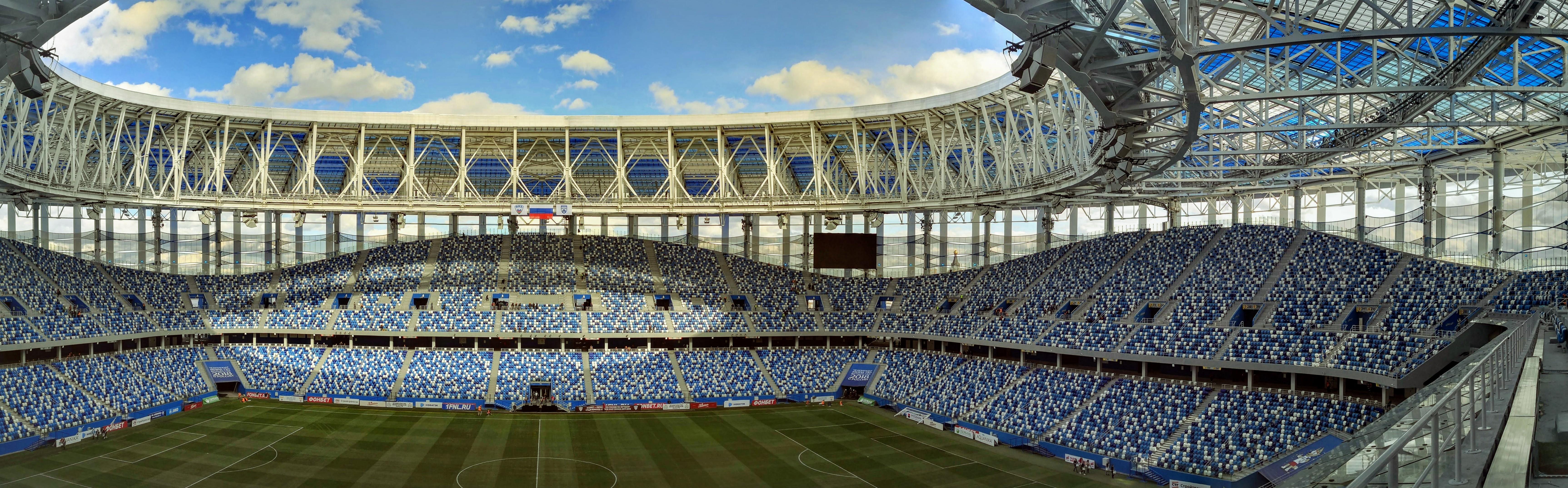 Чаша стадиона, вид с зоны прессы