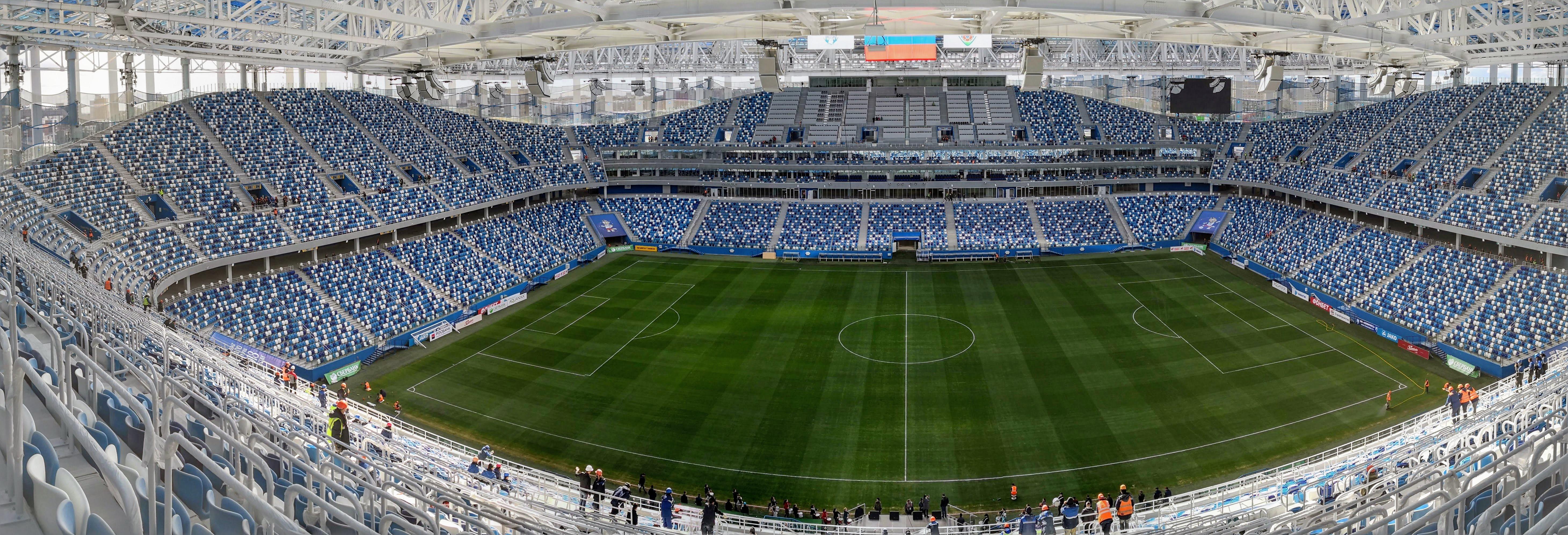 Чаша стадиона, вид с верхних секторов